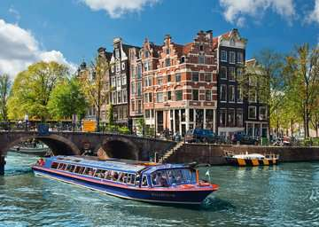 Grachtenfahrt in Amsterdam Puzzle;Erwachsenenpuzzle - Bild 2 - Ravensburger