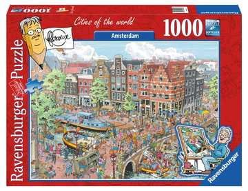 Fleroux Cities of the world: Amsterdam! Puzzle;Puzzles adultes - Image 1 - Ravensburger