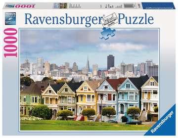 Painted Ladies, San Francisco Puzzle;Erwachsenenpuzzle - Bild 1 - Ravensburger