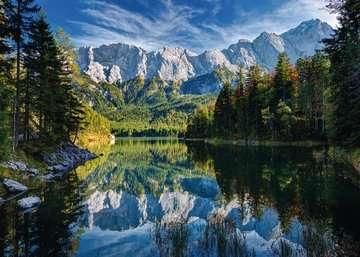 Eibsee mit Wettersteingebirge und Zugspitze Puzzle;Erwachsenenpuzzle - Bild 2 - Ravensburger