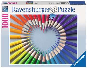 Color My Heart Jigsaw Puzzles;Adult Puzzles - image 1 - Ravensburger