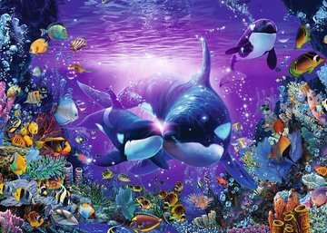 ORKI PODWODNY ŚWIAT 1000 EL Puzzle;Puzzle dla dorosłych - Zdjęcie 2 - Ravensburger