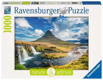 Wasserfall vor Kirkjufell, Island Puzzle;Erwachsenenpuzzle - Bild 1 - Ravensburger