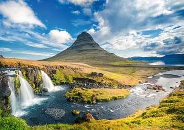 Wasserfall vor Kirkjufell, Island Puzzle;Erwachsenenpuzzle - Bild 3 - Ravensburger