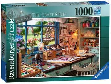 My Haven No.1 - The Craft Shed, 1000pc Puzzles;Adult Puzzles - image 1 - Ravensburger