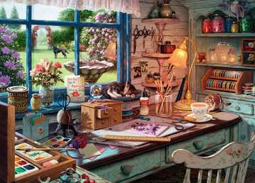 My Haven No.1 - The Craft Shed, 1000pc Puzzles;Adult Puzzles - image 2 - Ravensburger