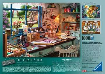 My Haven No.1 - The Craft Shed, 1000pc Puzzles;Adult Puzzles - image 3 - Ravensburger