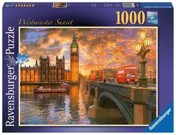 Westminster Sunset, 1000pc Puzzles;Adult Puzzles - image 1 - Ravensburger