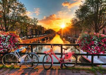 Bicycles in Amsterdam Jigsaw Puzzles;Adult Puzzles - image 2 - Ravensburger