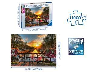 Bicycles in Amsterdam Jigsaw Puzzles;Adult Puzzles - image 3 - Ravensburger