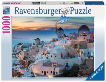 Puzzle 1000 p - Santorin Puzzle;Puzzle adulte - Image 1 - Ravensburger