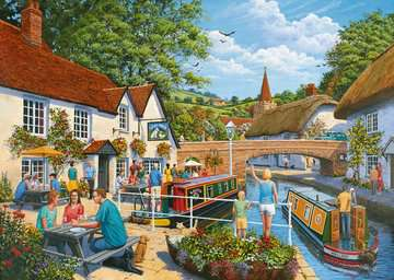 Waterside Tavern, 1000pc Puzzles;Adult Puzzles - image 2 - Ravensburger
