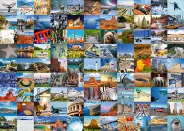 99 Beautiful Places in the USA & Canada, 1000pc Puzzles;Adult Puzzles - image 2 - Ravensburger
