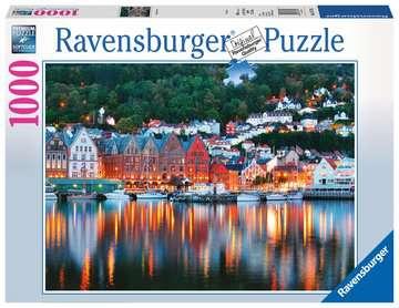 Puzzle 2D 1000 elementów: Bergen Norwegia Puzzle;Puzzle dla dorosłych - Zdjęcie 1 - Ravensburger