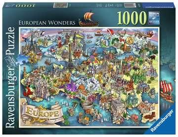 Puzzle 1000 p - European Wonders Puzzle;Puzzles adultes - Image 1 - Ravensburger