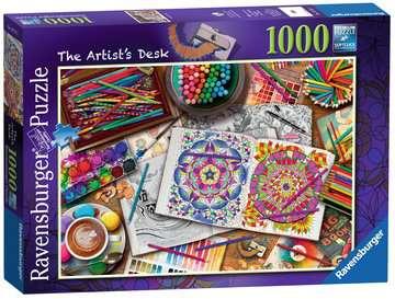 The Artist s Desk, 1000pc Puzzles;Adult Puzzles - image 4 - Ravensburger