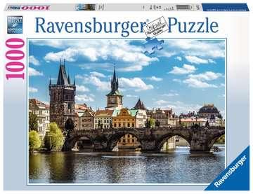 Praha: Pohled na Karlův most 1000 dílků 2D Puzzle;Puzzle pro dospělé - obrázek 1 - Ravensburger