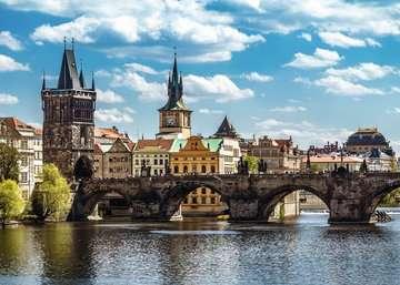 Praha: Pohled na Karlův most 1000 dílků 2D Puzzle;Puzzle pro dospělé - obrázek 2 - Ravensburger