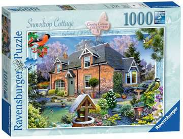 Country Cottage Collection - Snowdrop Cottage, 1000pc Puzzles;Adult Puzzles - image 1 - Ravensburger