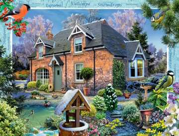 DOMEK WIEJSKI PRZEBIŚNIEG 1000EL Puzzle;Puzzle dla dorosłych - Zdjęcie 2 - Ravensburger