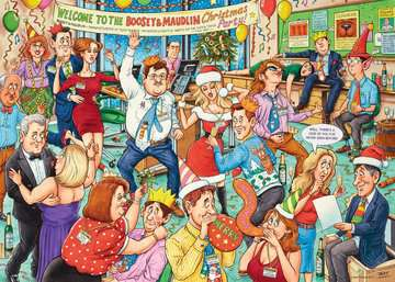 Best of British - Office Christmas Party, 1000pc Puzzles;Adult Puzzles - image 2 - Ravensburger