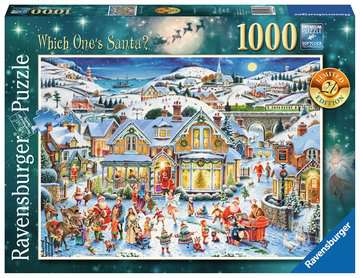 Which one s Santa? Limited Edition, 1000pc Puzzles;Adult Puzzles - image 1 - Ravensburger