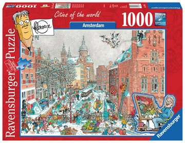 Cities of the World - Amsterdam in Winter Puzzels;Puzzels voor volwassenen - image 1 - Ravensburger