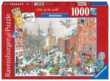 AMSTERDAM ZIMĄ 1000EL Puzzle;Puzzle dla dorosłych - Zdjęcie 1 - Ravensburger