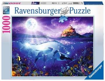 Whales in the Moonlight, 1000pc Puslespil;Puslespil for voksne - Billede 1 - Ravensburger