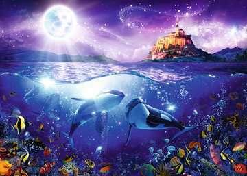 Whales in the Moonlight, 1000pc Puslespil;Puslespil for voksne - Billede 2 - Ravensburger