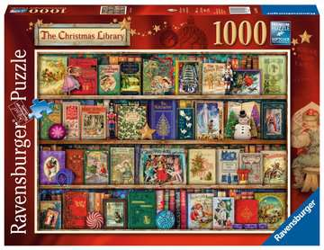 The Christmas Library Puzzle;Puzzles adultes - Image 1 - Ravensburger