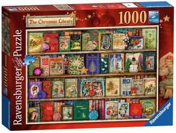 The Christmas Library Puzzle;Puzzles adultes - Image 2 - Ravensburger
