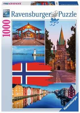 KOLAŻ TRONDHEIM 1000EL Puzzle;Puzzle dla dorosłych - Zdjęcie 1 - Ravensburger