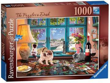 The Puzzler s Desk, 1000pc Puzzles;Adult Puzzles - image 1 - Ravensburger