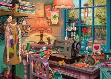 The Sewing Shed Jigsaw Puzzles;Adult Puzzles - image 2 - Ravensburger