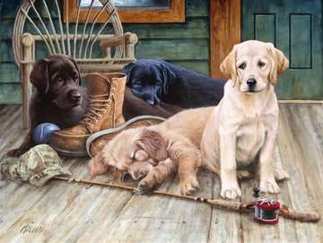 Ruff Day Jigsaw Puzzles;Adult Puzzles - image 2 - Ravensburger