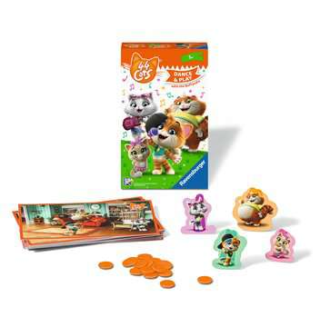 44 Cats: Dance & Play with the Buffycats Spellen;Dobbelsteenspellen - image 2 - Ravensburger