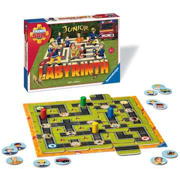21282 Kinderspiele Fireman Sam Junior Labyrinth von Ravensburger 2