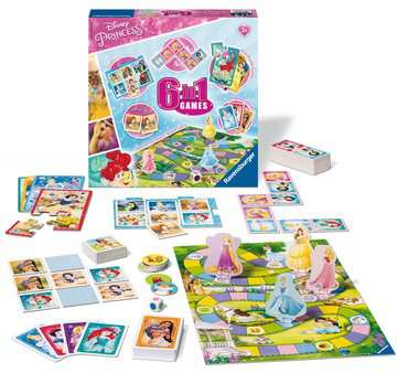 Disney Princess 6-in-1 Games Games;Children s Games - image 2 - Ravensburger