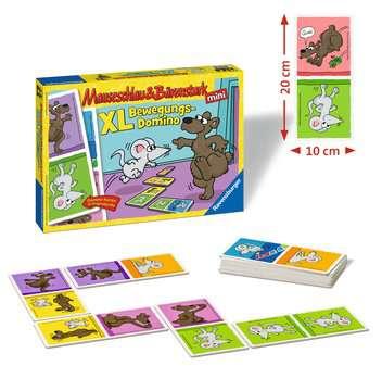 Mauseschlau & Bärenstark  XL Bewegungs-Domino Spiele;Kinderspiele - Bild 2 - Ravensburger