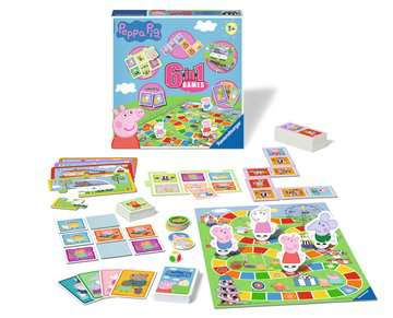 Peppa Pig 6-in-1 Games Games;Children s Games - image 2 - Ravensburger