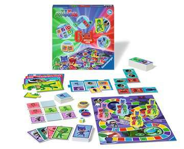 Pyjamasques 6-in-1 jeux Jeux;Jeux de société enfants - Image 2 - Ravensburger