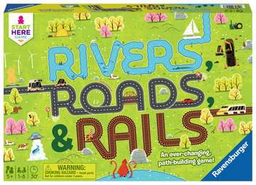 Rivers, Roads & Rails Games;Children s Games - image 1 - Ravensburger