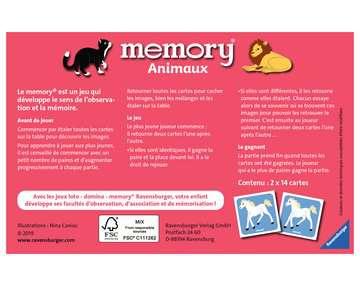 memory® Animaux Jeux éducatifs;Loto, domino, memory® - Image 2 - Ravensburger