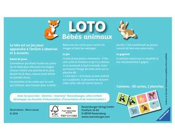 Loto Bébés animaux Jeux éducatifs;Loto, domino, memory® - Image 2 - Ravensburger