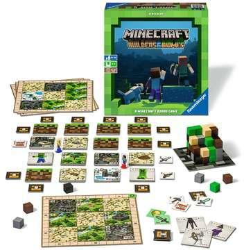 Minecraft Builders & Biomes - A Minecraft Board Game Spil;Familiespil - Billede 2 - Ravensburger