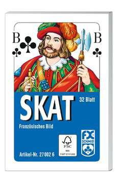 Klassisches Skatspiel, Französisches Bild, 32 Karten in der Faltschachtel Spiele;Kartenspiele - Bild 1 - Ravensburger