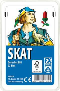 27012 Kartenspiele Skat, Deutsches Bild, 32 Karten in Klarsicht-Box von Ravensburger 1