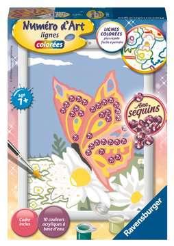 Numéro d art - petit - Papillon et sequins Loisirs créatifs;Peinture - Numéro d'Art - Image 1 - Ravensburger
