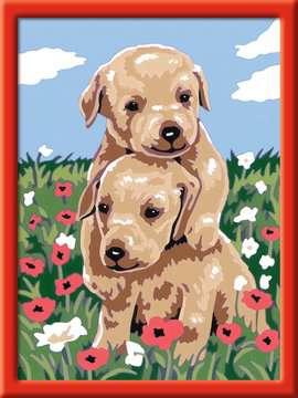 Knuffelende puppies Hobby;Schilderen op nummer - image 2 - Ravensburger